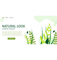 horizontal flat banner natural look and beauty vector image