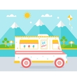 Ice Cream Truck agains Beach Landscape vector image vector image