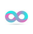 infinity logo symbol loop icon infinite 8 mobius vector image