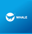 isolated whale in a circle logo ocean vector image