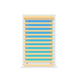 jalousie set on window color vector image vector image