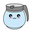 kettle kitchenware utensil kawaii cute cartoon vector image vector image