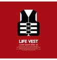 Life Vest vector image vector image
