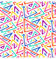 light colorful sketch triangles seamless pattern vector image vector image