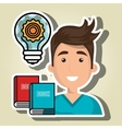 man books idea icon vector image