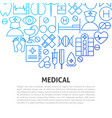 medical line concept vector image vector image