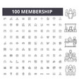 membership line icons signs set outline vector image vector image