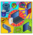modern devices and chargers template vector image vector image