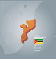 mozambique information map vector image vector image