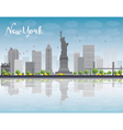 New York city skyline with grey buildings vector image vector image