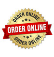 order online round isolated gold badge vector image vector image