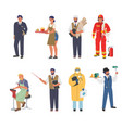 people different occupations and professions vector image