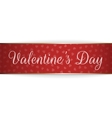 realistic greeting ribbon with valentines day text vector image