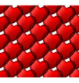 Red love seamless background of heart bubbles vector image