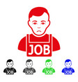 sad jobless icon vector image vector image