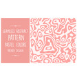 seamless abstract pattern trendy pastel vector image vector image