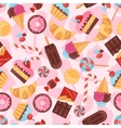 seamless pattern colorful various candy sweets vector image