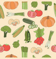 seamless pattern vegetable vector image vector image
