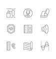 set line icons soundproofing vector image