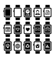 Smart Watch Icon Set vector image vector image
