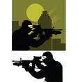 sniper police vector image vector image