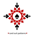 Spade card suit snowflake vector image vector image