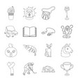 sports education animal and other web icon in vector image vector image