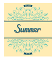 Summer card with floral pattern vector image