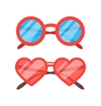 Sunglasses icon set vector image