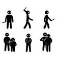 terrorism concept set of terrorist people world vector image vector image