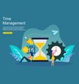 time management and procrastination concept vector image