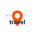 Travel agency services logo vector image vector image