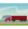 truck trailer container delivery transport road vector image vector image