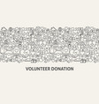 volunteer donation banner concept vector image