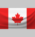 waving national flag of canada vector image vector image