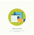 Flat web surfing background vector image