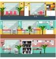 set of veterinary clinic interior concept vector image