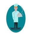 Concept of chef for logomenu vector image