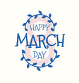 8 march day label in beautiful style vector image
