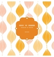 abstract golden ogee frame seamless pattern vector image vector image