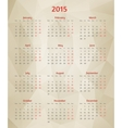 Abstract polygonal calendar vector image vector image