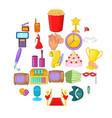 avocation icons set cartoon style vector image