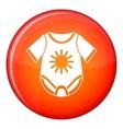 Baby bodysuit icon flat style vector image vector image