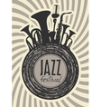 banner for jazz festival vector image vector image