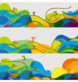 Banners set Olympic games 2016 wallpaper vector image