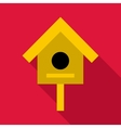 Bird house icon flat style vector image vector image