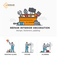 builders a new project engineer estimates vector image vector image