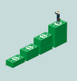 business isometric for success money management vector image vector image