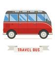 cartoon travel bus icon vector image vector image