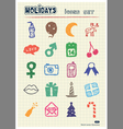 Christmas and other holidays web icons set